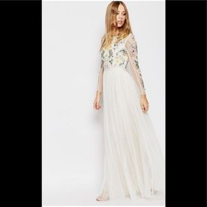 Needle&Thread maxi prom/ball gown style dress.
